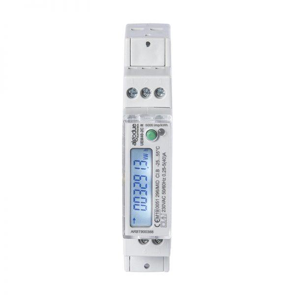 UEM40-2C 1 DIN module single phase energy meter