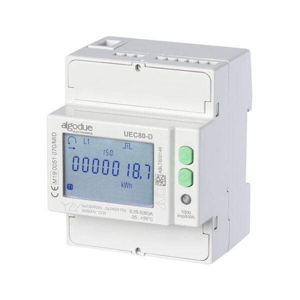 Contatore di energia elettrica trifase UEC80-D